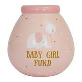 Little Elephant Baby Girl Money Pot Of Dreams