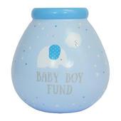 Little Elephant Baby Boy Blue Money Pot Of Dreams