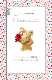 Boofle Gorgeous Fiancee Valentine's Day Greeting Card