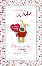 Boofle Amazing Wife Valentine's Day Greeting Card