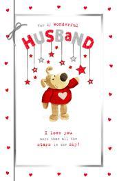 Boofle Wonderful Husband Valentine's Day Greeting Card