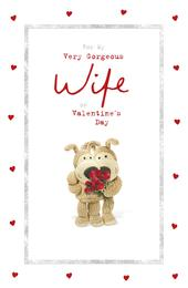 Boofle Very Gorgeous Wife Valentine's Day Greeting Card
