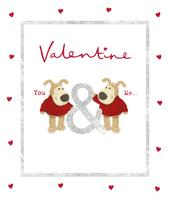 Boofle You & Me Valentine's Day Greeting Card