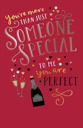 More Than Someone Special Valentine's Day Greeting Card