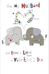 For My Husband With Tons Of Love Valentine's Day Greeting Card