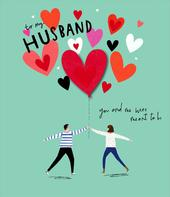 To My Husband You & Me Valentine's Day Greeting Card