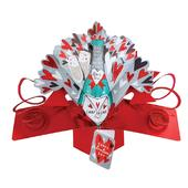 Here's To Us Pop-Up Valentine's Day Greeting Card 3D Pop Up Cards