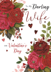 Boxed Darling Wife Embellished Valentine's Day Greeting Card