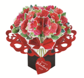 Bouquet Of Roses Pop Up Happy Valentine's Day Greeting Card