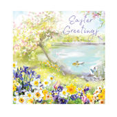 Pack Of 5 Easter Greetings Duck and Goslings Illustrated Easter Greeting Cards