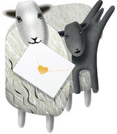 Sheep & Lamb 3D Special Delivery Animal Greeting Card