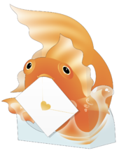 Goldfish Sushi 3D Special Delivery Animal Greeting Card