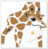 Happy Giraffe 3D Special Delivery Animal Greeting Card