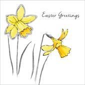 Pack of 6 British Heart Foundation Charity Easter Greeting Cards In Same Design