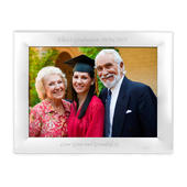 Personalised Silver Plated 7x5 Landscape Photo Frame - Personalise It!