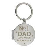 Personalised No1 Dad Photo Keyring - Personalise It!