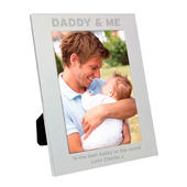 Personalised Silver 5x7 Daddy & Me Photo Frame - Personalise It!