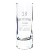 Personalised Birthday Star Shot Glass - Personalise It!