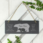 Personalised Bear Slate Door Plaque - Personalise It!