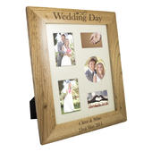 Personalised Wedding Day 8x10 Wooden Photo Frame - Personalise It!