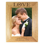 Personalised Love 5x7 Wooden Photo Frame - Personalise It!