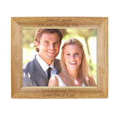 Personalised 10x8 Landscape Wooden Photo Frame - Personalise It!