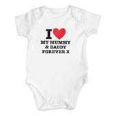 Personalised I HEART 0-3 Months Baby Vest - Personalise It!