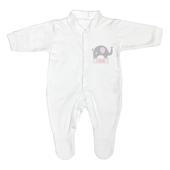 Personalised Pink Elephant 0-3 Months Babygrow - Personalise It!