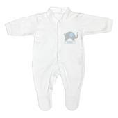 Personalised Blue Elephant 0-3 Months Babygrow - Personalise It!