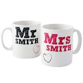 Personalised MR & MRS MUG SET - Personalise It!