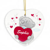 Personalised Me to You Big Heart Ceramic Heart Decoration - Personalise It!