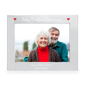 Personalised Silver 7x5 Ruby Anniversary Landscape Photo Frame - Personalise It!