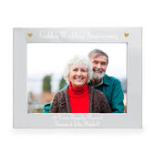 Personalised Silver 7x5 Golden Anniversary Landscape Photo Frame - Personalise It!