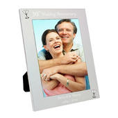 Personalised Silver 5x7 30th Wedding Anniversary Photo Frame - Personalise It!