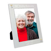 Personalised Silver 5x7 50th Wedding Anniversary Photo Frame - Personalise It!
