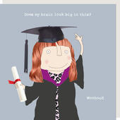 Rosie Made A Thing Graduation Does My Brain Look Big Card