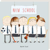 Rosie Made A Thing New School Have Fun Card