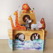 Children's Animals On The Ark 3D Pop Up Birthday Greeting Card