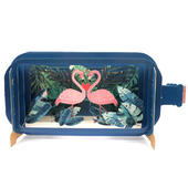 Message In A Bottle Flamingo Heart Pop Up Birthday Greeting Card