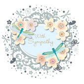 With Sympathy Embellished Greeting Card