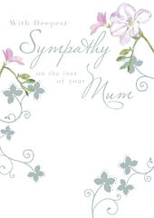 Sympathy Loss Of Mum Sympathy Greeting Card Foil Finished