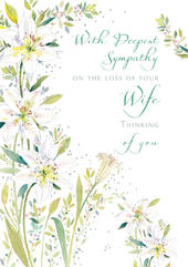 Sympathy Loss Of Wife Sympathy Greeting Card Foil Finished