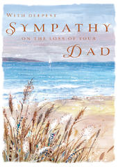 Sympathy Loss Of Dad Sympathy Greeting Card Foil Finished