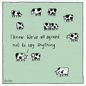 Agreed Not To Say Anything World Of Moose Greeting Card