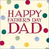 Emma Bridgewater Happy Father's Day Dad Father's Day Greeting Card