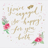 You're Engaged! So Happy Foiled Engagment Greeting Card
