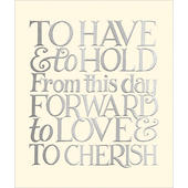 To Have & To Hold Emma Bridgewater Wedding Greeting Card