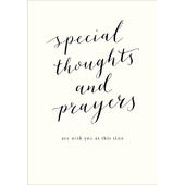 Special Thoughts And Prayers Sympathy Greeting Card