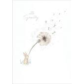 With Sympathy Dandelion In The Wind Sympathy Greeting Card