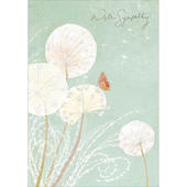 With Sympathy Dandelion & Butterfly Sympathy Greeting Card